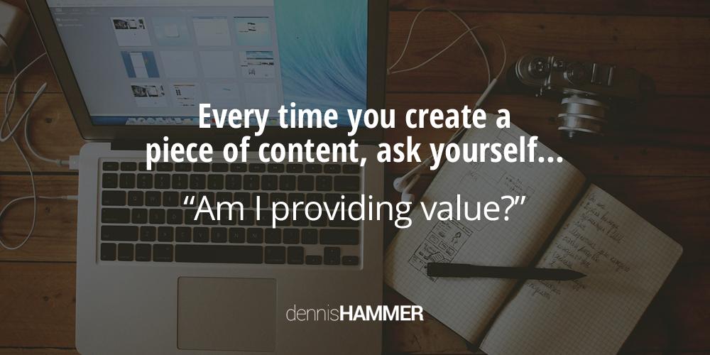 am i providing content markting value